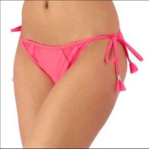 Seafolly Tasseled Coral String Bikini! NEW!